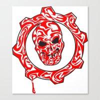 gears of war Canvas Prints featuring Gears Of War Design [2] by Megan Yiu