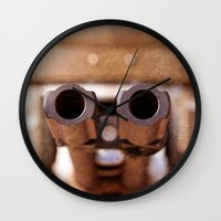 welcome Wall Clocks featuring Welcome by digital2real