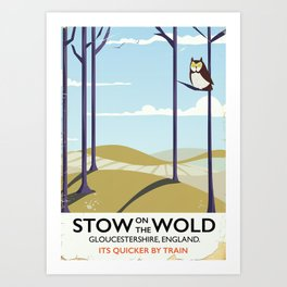 stow on the wold vintage travel poster Art Print