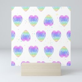 Glittering heart Mini Art Print