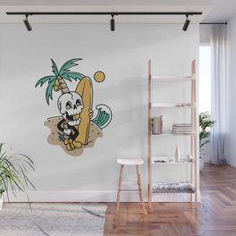Skull Ready to Surf Wall Mural