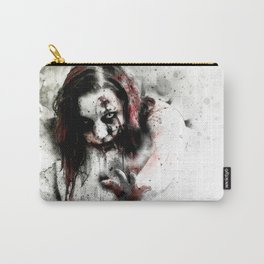 Watercolor Zombie, Horror Zombie, Cool Women Zombie Painting Carry-All Pouch