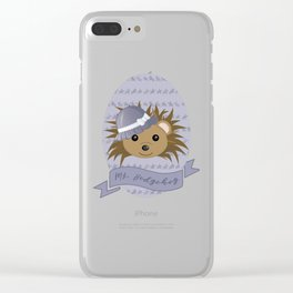 Ms. Hedgehog Clear iPhone Case