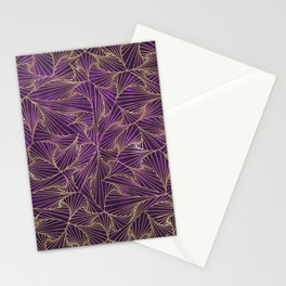 Tangles Violet and Gold Stationery Cards