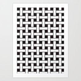 Plane Weave Seamless Pattern. Art Print