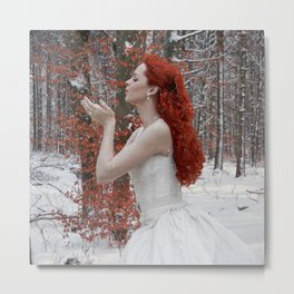 Lady Winter Metal Print