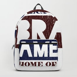 America Home of the Free Because of the Brave Backpack