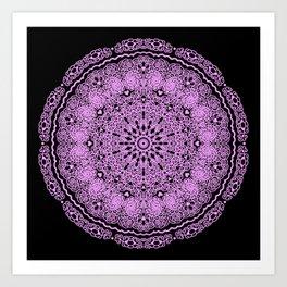 Mandala Project 234 | Pink Filigree & Hearts Art Print