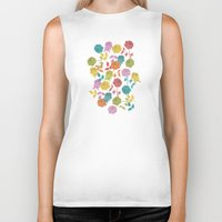 roses Biker Tanks featuring ROSES by Bianca Green