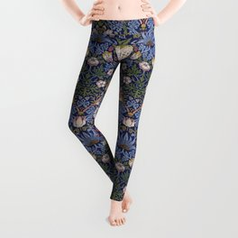 William Morris Strawberry Thief Pattern Leggings