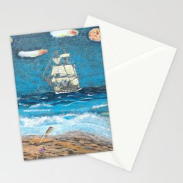 HMS Victory in paradise Stationery Cards