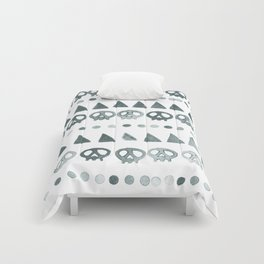 Triangles + Skulls Pattern Comforters