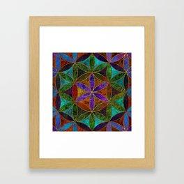 The Flower of Life (Sacred Geometry) 2 Framed Art Print