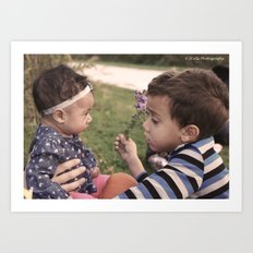 Brother and Sisterly Love Art Print