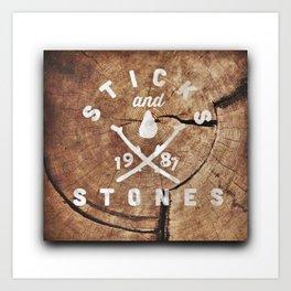 Sticks & Stones: EST Art Print