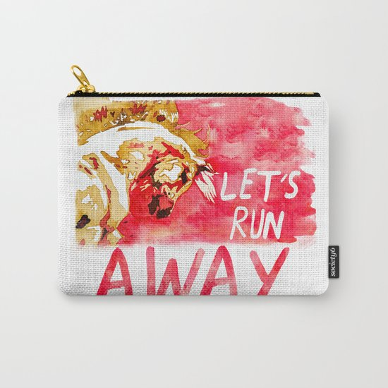 Let's Run Away Horse Carry-All Pouch
