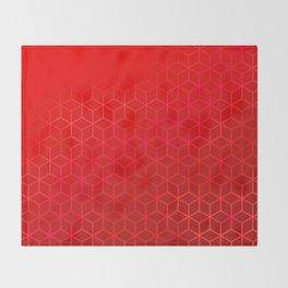 Lush Red Hexas Throw Blanket