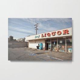 Liquor Store Santa Monica Metal Print