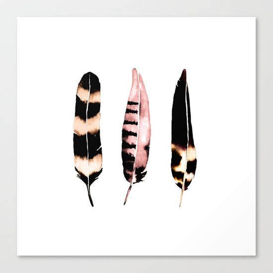 Feathers of Rose Gold Canvas Print