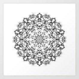 Mandala Project 214 | Black and White Lace on White Art Print