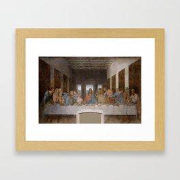 Leonardo da Vinci – Ultima cena – the last supper Framed Art Print