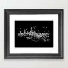 Austin, Texas City Skyline Framed Art Print