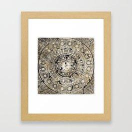 BLACK & GOLD MANDALA ARMARRI OKRE Framed Art Print