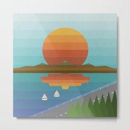 Sunset in Spectrum Metal Print