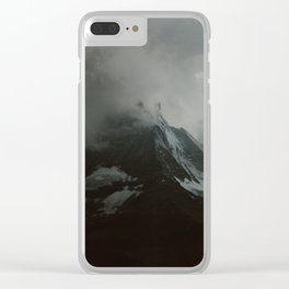The Zermtt Matterhorn Under Storm Clouds Clear iPhone Case