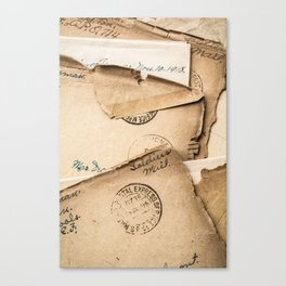 Soldier's Mail Canvas Print