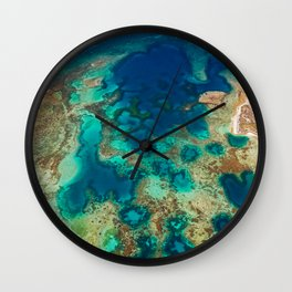 Colours of the Reef Wall Clock