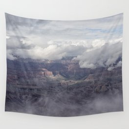 Canyon in Clouds Wall Tapestry