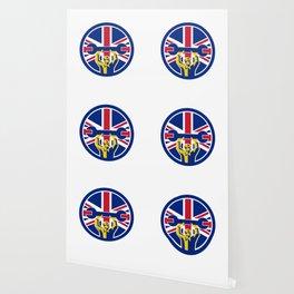 British Mechanic Union Jack Flag Icon Wallpaper