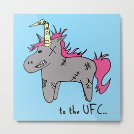 Unicorn UFC Metal Print