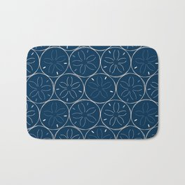 Sanddollar Pattern in Blue Bath Mat