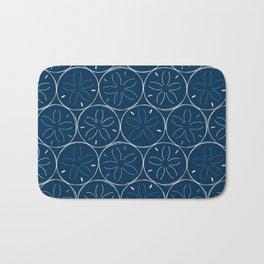 Sanddollar Pattern in Blue Bath Mat
