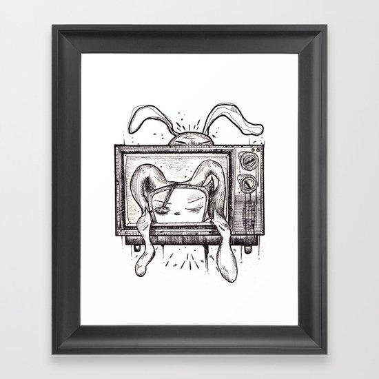 Something on? Framed Art Print