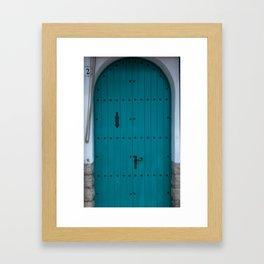 Blue Coastal Door from Costa Brava Spain Framed Art Print