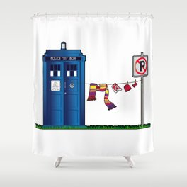 Doctor Who: tardis wardrobe  Shower Curtain