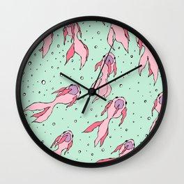 Pastel colors koi fish Wall Clock