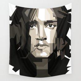 John Frusciante Blackwhite Wall Tapestry