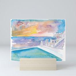 Santorini Infinity and Tranquility In Greece Mini Art Print