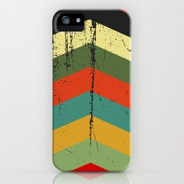 Grunge chevron iPhone Case