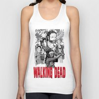 the walking dead Tank Tops featuring Walking Dead by Matt Fontaine