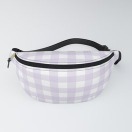 Lilac gingham pattern Fanny Pack