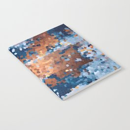 Copper and Denim Abstract Notebook