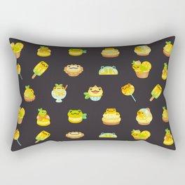 Sweet Lemon frog - dark Rectangular Pillow
