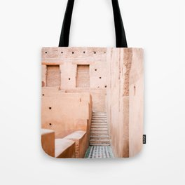 Colors of Marrakech Morocco - El badi palace photo print | Pastel travel photography art Tote Bag