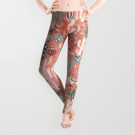 Lama in cactus jungles Leggings