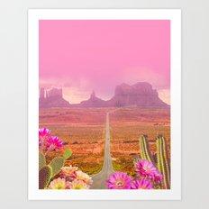 Road landscape Art Print